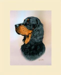 Original Gordon Setter Painting